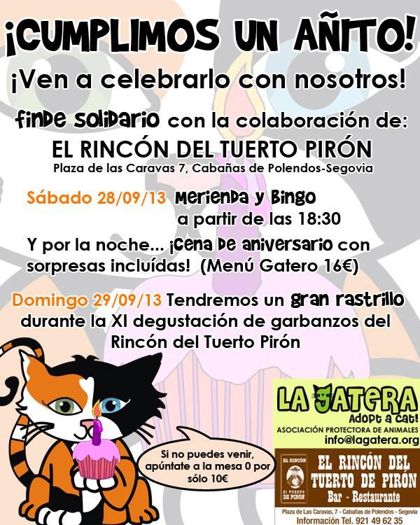 ¡Aniversario de La Gatera!