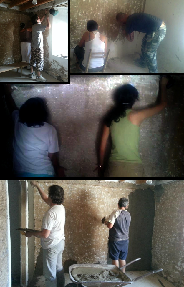 proceso de las paredes