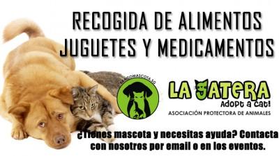 Banco de alimentos, juguetes y medicamentos para mascotas