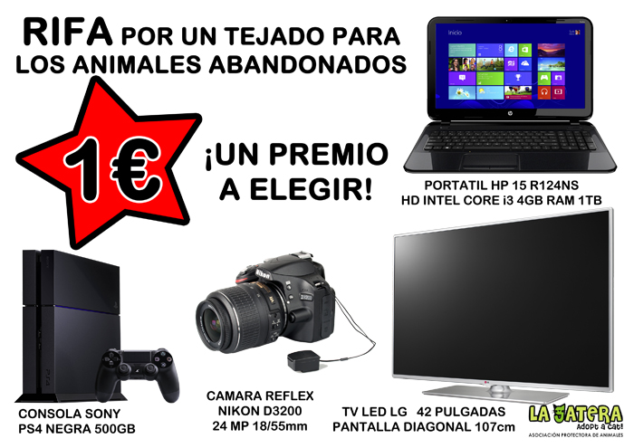 SORTEO Portatil/TV/PS4/CAMARA